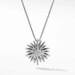 DY Starburst Medium Pendant Necklace with Diamonds